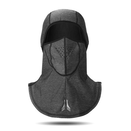 Grey Winter Outdoor Sports Bicycle Ski Hats Cap Windproof Waterproof  Warm Face Mask Hood for Mens Womens
