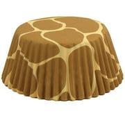 Fox Run Giraffe Paper Mini Party Bake Cups 50 Pack, Cupcakes Cake Muffin Liners
