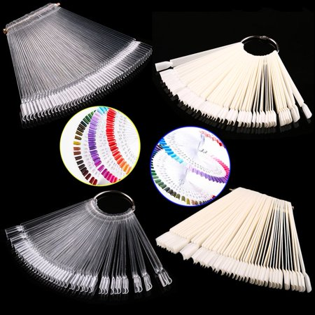 False Display Nail Art Fan Wheel Polish Practice Tip Sticks Nail Art