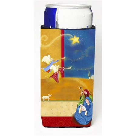 Contemporary Nativity Christmas Michelob Ultra Can coolers for Slim