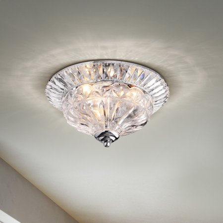 The Lighting Graciela 3 Light Chrome Crystal Flush Mount Chandelier