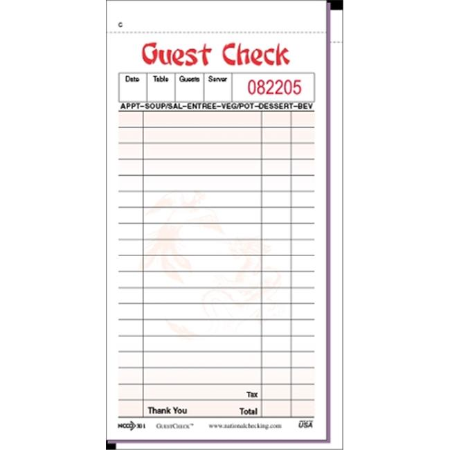 National Checking 301SP Chinese Check Guest - 50 Checks p...
