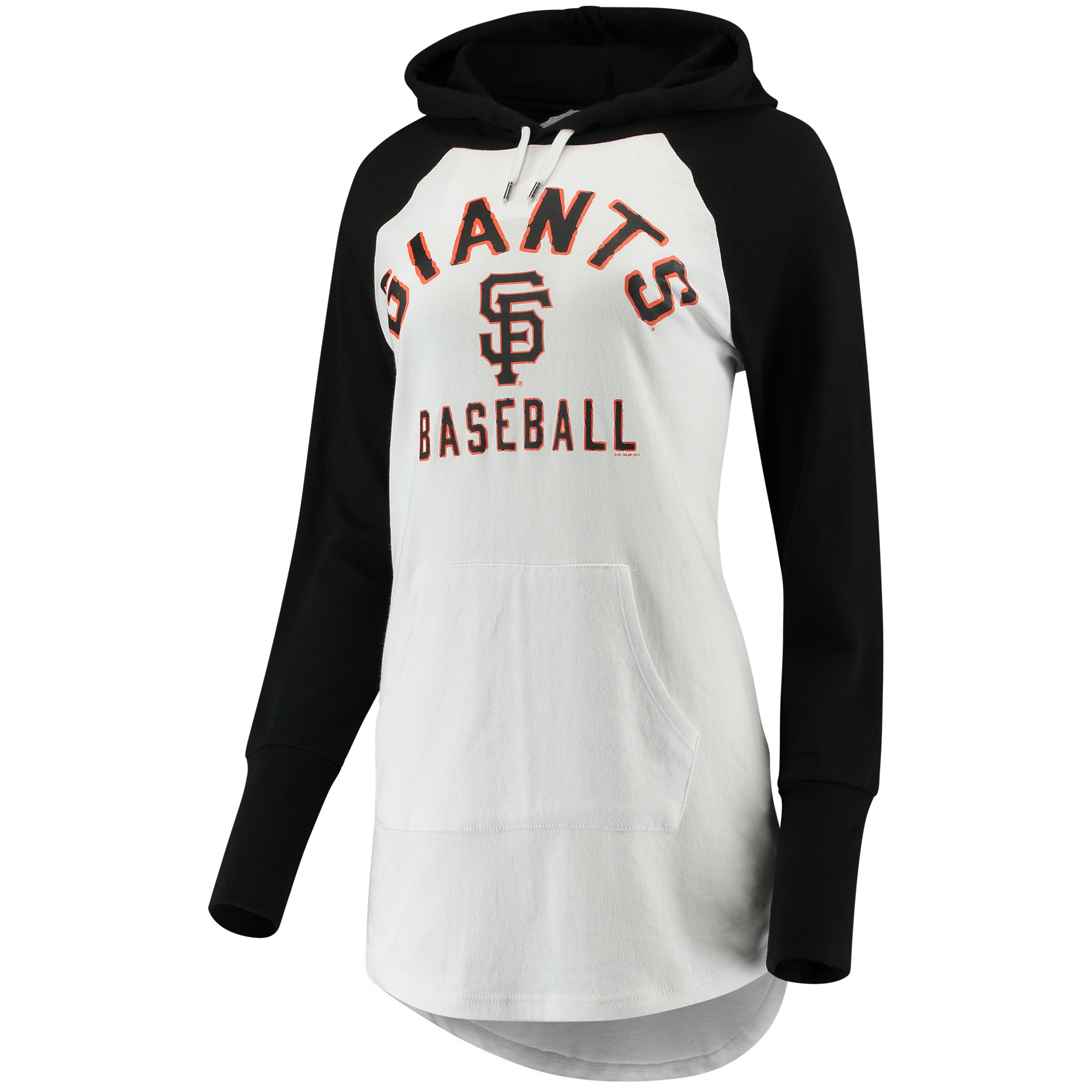 Women's G-III 4Her by Carl Banks White/Black San Francisco Giants All Division Pullover Hoodie