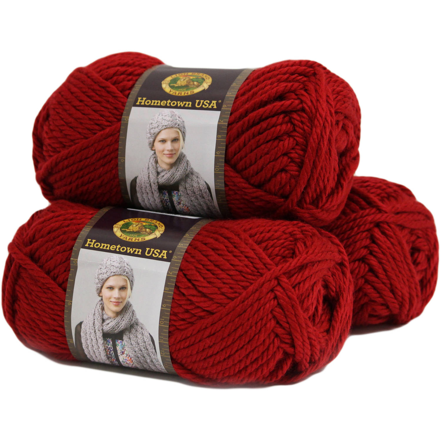 Lion Brand Yarn Hometown USA Acrylic Yarn, 3-Pack