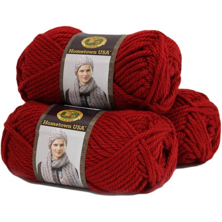 Lion Brand Yarn Hometown USA Acrylic Yarn, 3-Pack - Halloween Crafts Using Yarn