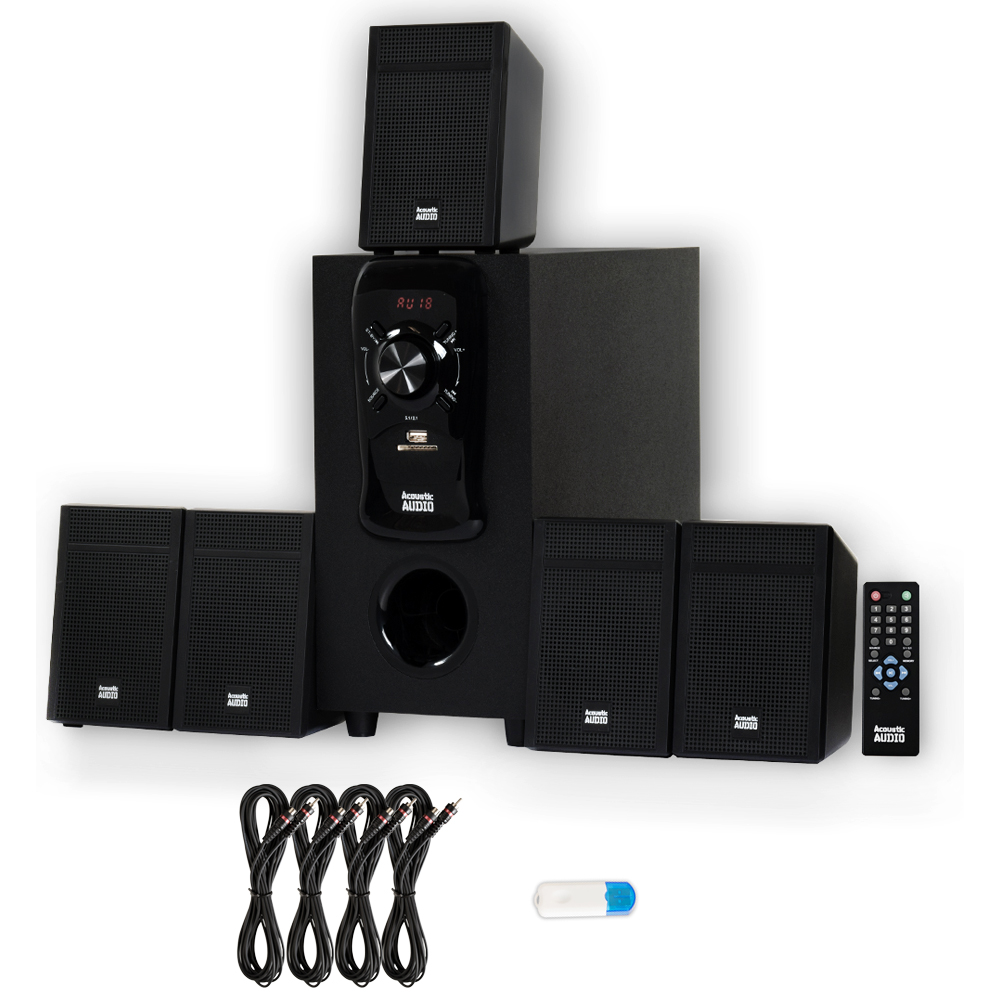 Acoustic Audio AA5150 Home Theater 5.1 Speaker System wit...