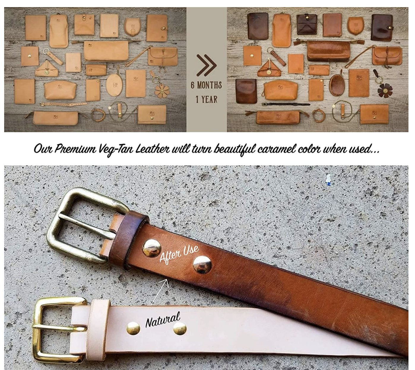 8//9oz Vegetable Tanned Leather Strap Strip Cowhide Leather customized men belt