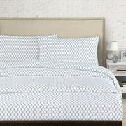 Echelon Home Fence 250 Thread Count Cotton Percale Sheet Set