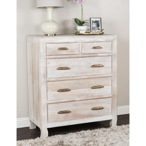 Kosas Home Cosmo 5-drawer Dresser Cosmo 5 Drawer Chest - White Wash