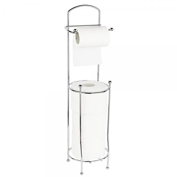 estilo free standing toilet paper holder for bathroom chrome toilet roll stand