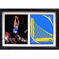 NBA Stephan Curry Golden State Warriors 12x18 Double Frame