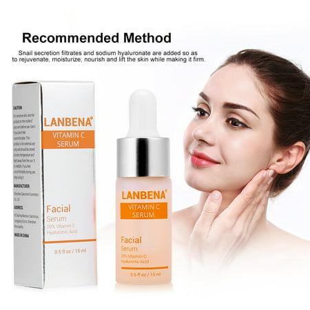 Anauto LANBENA Vitamin C Serum Remove Freckle Fade Dark Spot Anti-aging Whiten Moisturize Facial Serum, LANBENA Vitamin C Serum, Whitening Moisturizing Facial Serum