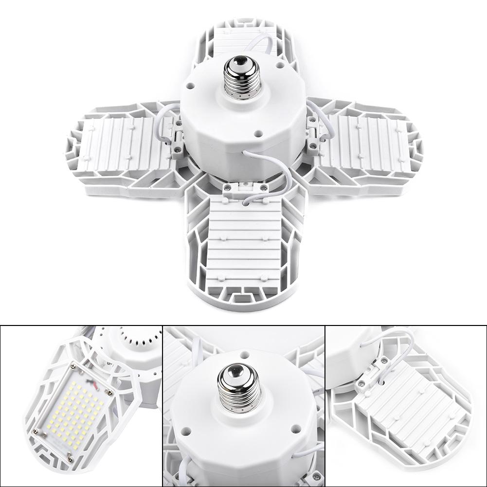 E26 E27 60-120W LED Garage Light Bulb Deformable Ceiling Fixtures Workshop Lamp
