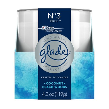 Glade Atmosphere Collection Crafted Soy Candle Air Freshener, No 3 Free,  4 2 oz