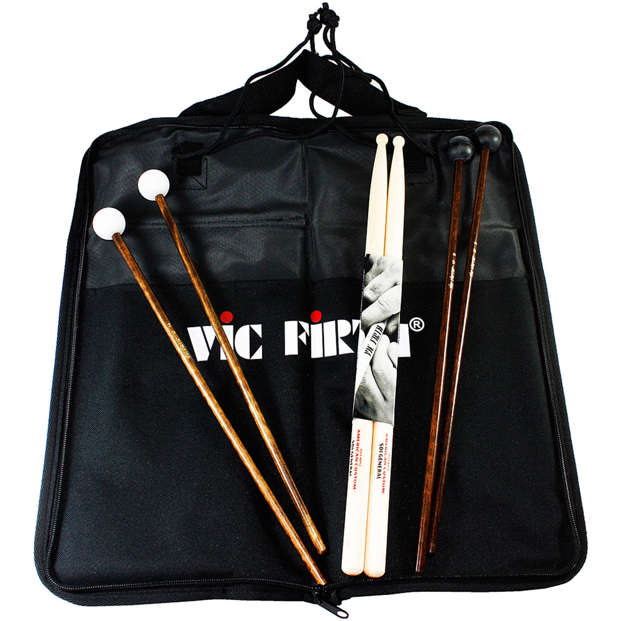 Vic Firth EP1 Education Pack 1 w/ Stickbag, SD1 Sticks, M5 & M14 Mallets