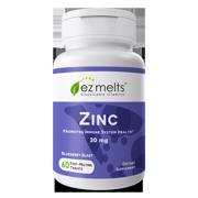 EZ Melts Zinc 30 mg Vegan, Zero Sugar, 60 Fast Dissolve Tablets