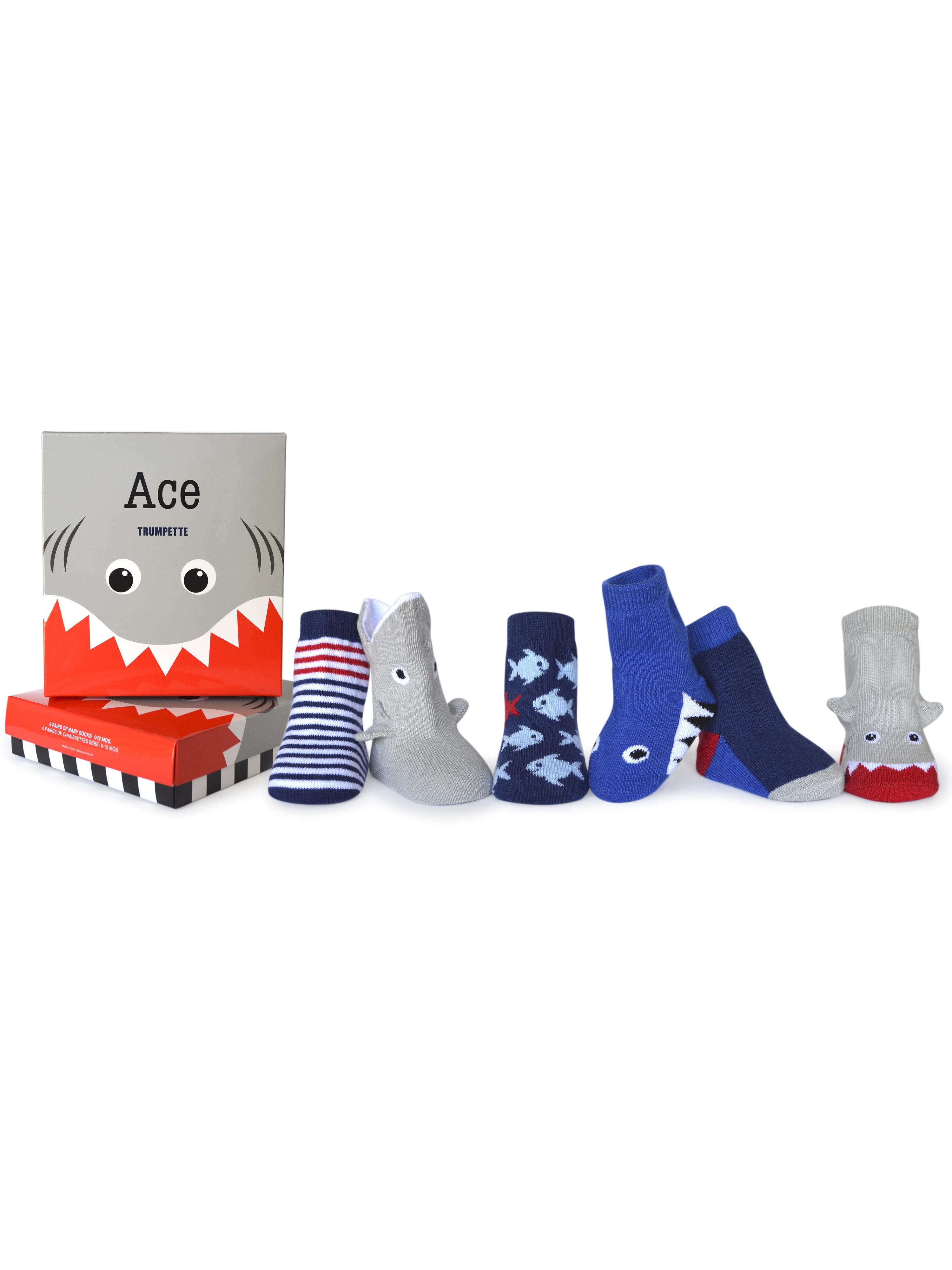 Trumpette Little Adventurer 0-12M Baby Accessories Set of 6 Socks