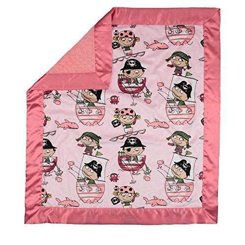 My Blankee Pirates Minky Pink w/ Minky Dot Watermelon Bab...