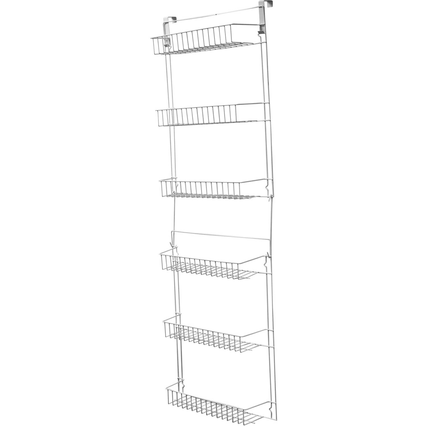 Closet Organizer with 6 Shelves, Over the Door Pantry Organizer and Bathroom Organizer by... by Trademark Global LLC