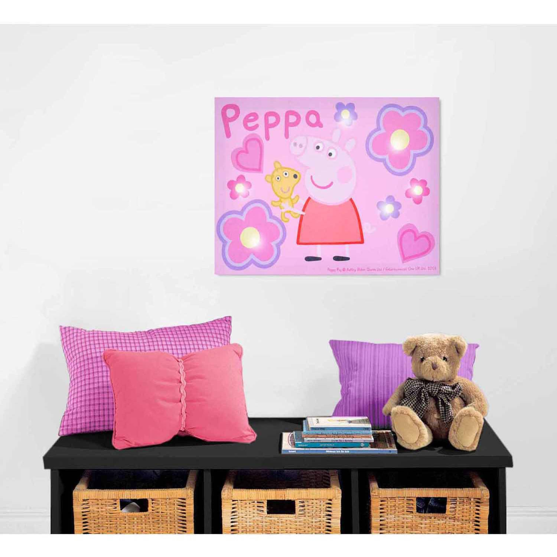 Peppa Pig Light Up Canvas Wall Art with BONUS LED Lights