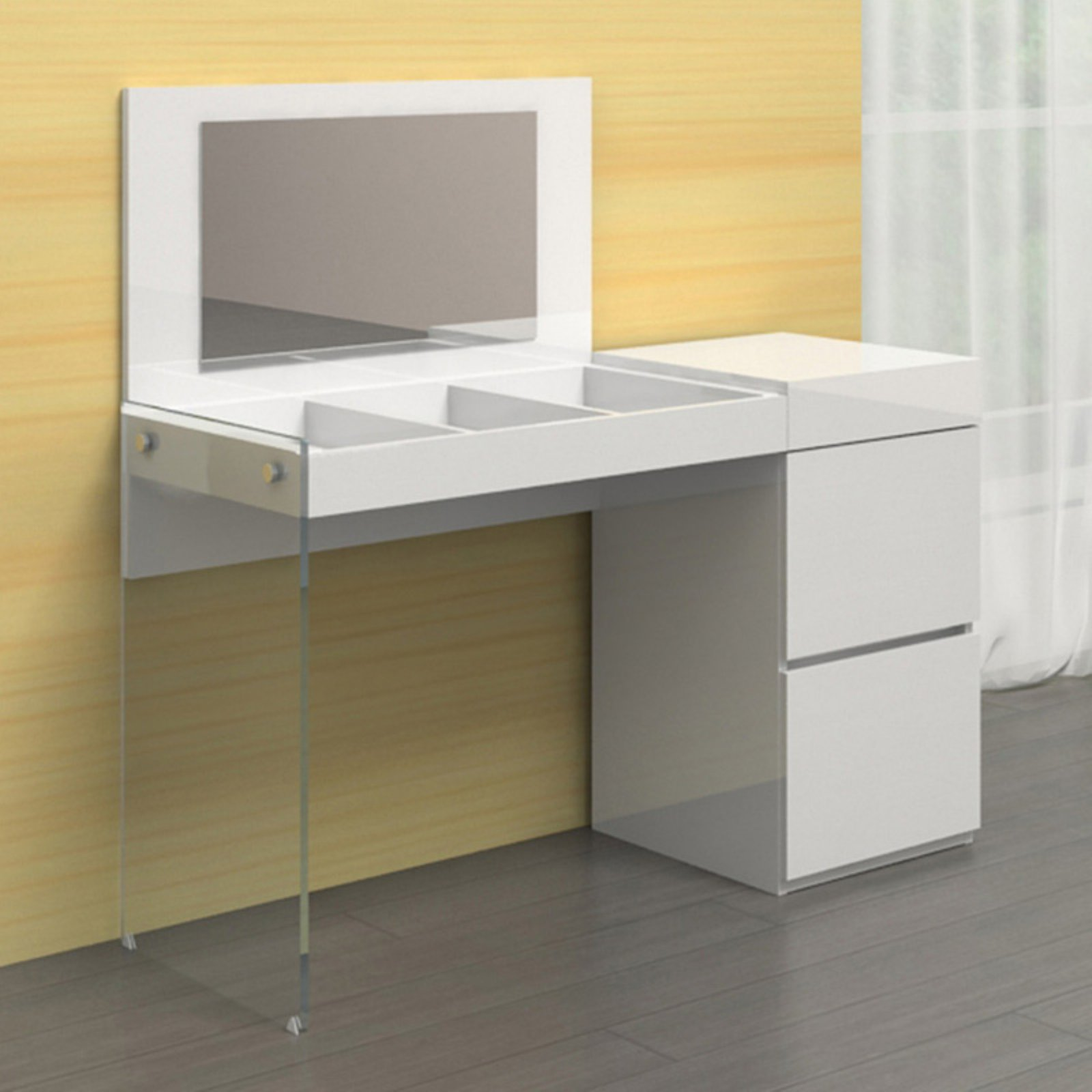 Casabianca Furniture Vetro Rectangular Office Desk