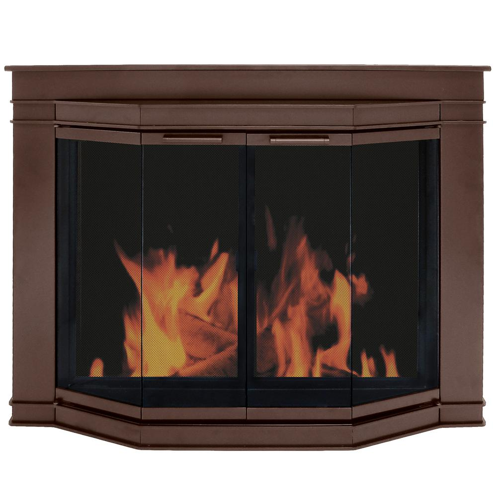 Pleasant Hearth Oil Rubbed Bronze Fireplace Door Glacier Bay Small GL-7700