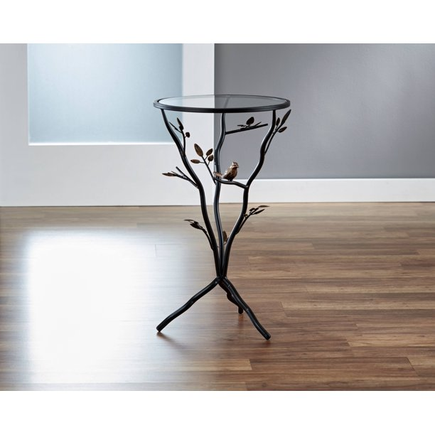 decorative indoor oval firewood standrack wood burner.htm firstime   co bird and branches tripod side table with glass  bird and branches tripod side table