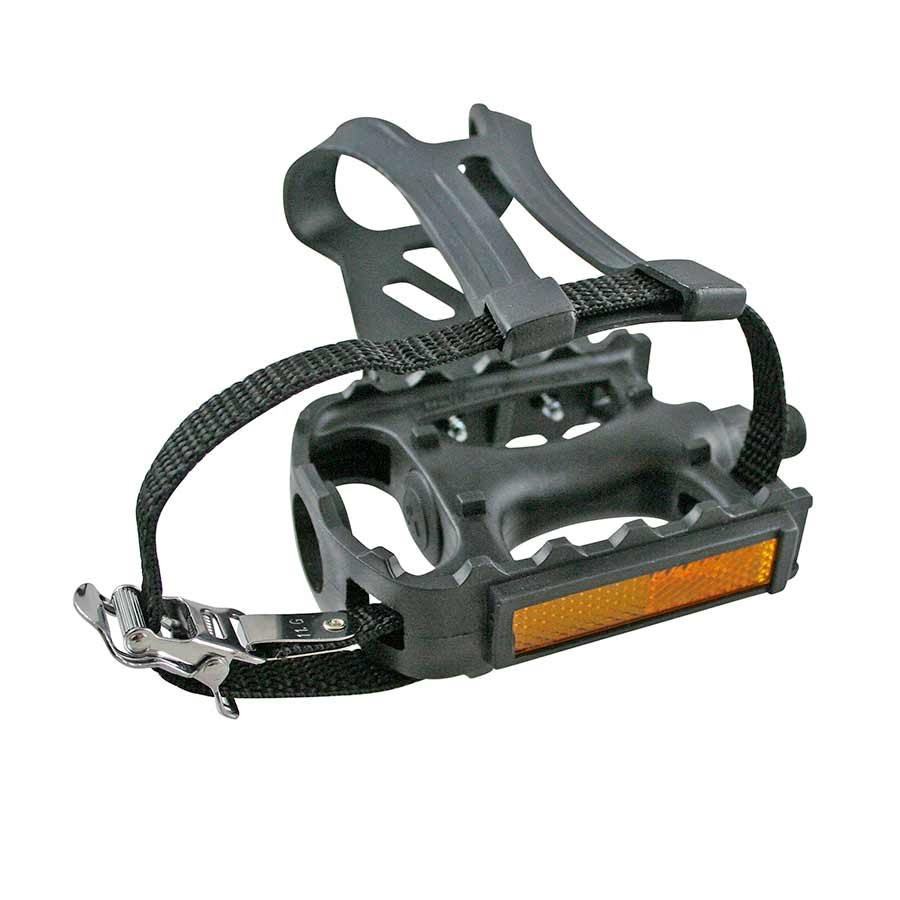 EVO, Adventure Plus, Pedals and toe-clips and straps, Black
