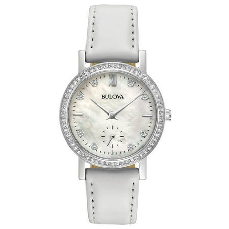 Bulova Women's Crystal White Mother of Pearl Watch 96L245 (ladies bulova watches on sale)