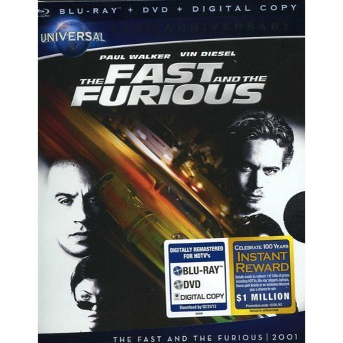 The Fast And The Furious (Blu-ray + DVD) (With INSTAWATCH)