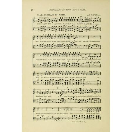 Hallelujah Chorus 1 Christmas In Song 1891 Canvas Art     18 X 24