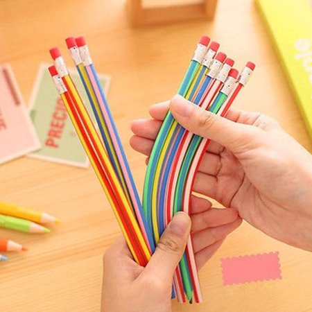 20Pcs Personalized Bendy Flexible Soft Pencil For Kid Gift Student School](Personalized Pencils Bulk)