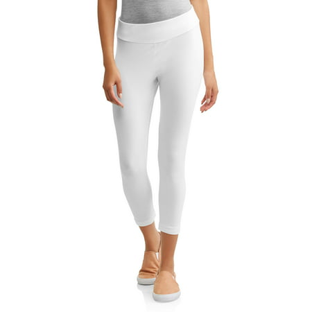 257dc433f24016 Time and Tru - Time and Tru Women's Capri Leggings - Walmart.com