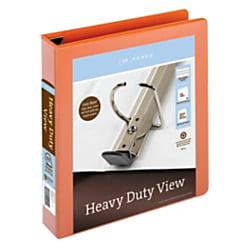 Easy Open Binder (Office Depot® Brand Heavy-Duty Easy Open® D-Ring View Binder, 1 1/2