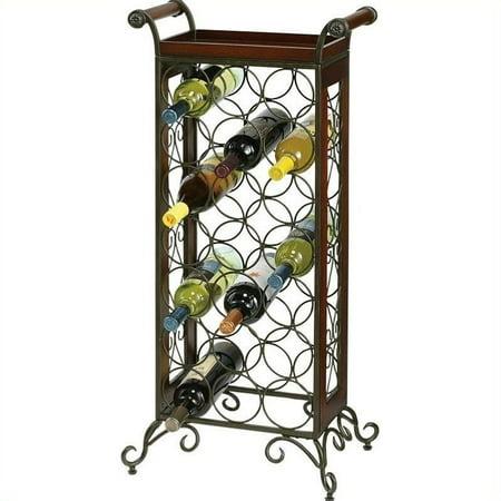 (Bowery Hill Wine Storage in Warm Gray and Americana Cherry)