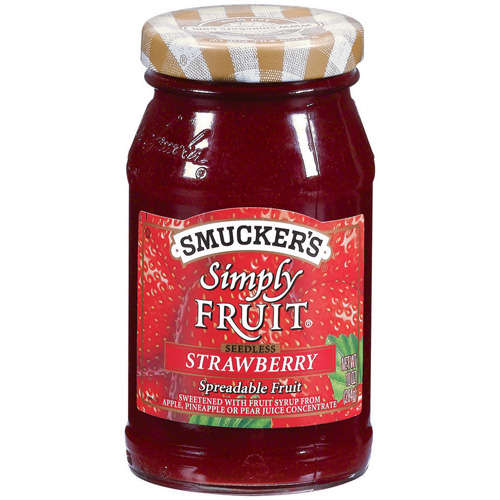 Smucker's: Simply Fruit Strawberry Seedless Spreadable Fruit, 10 Oz