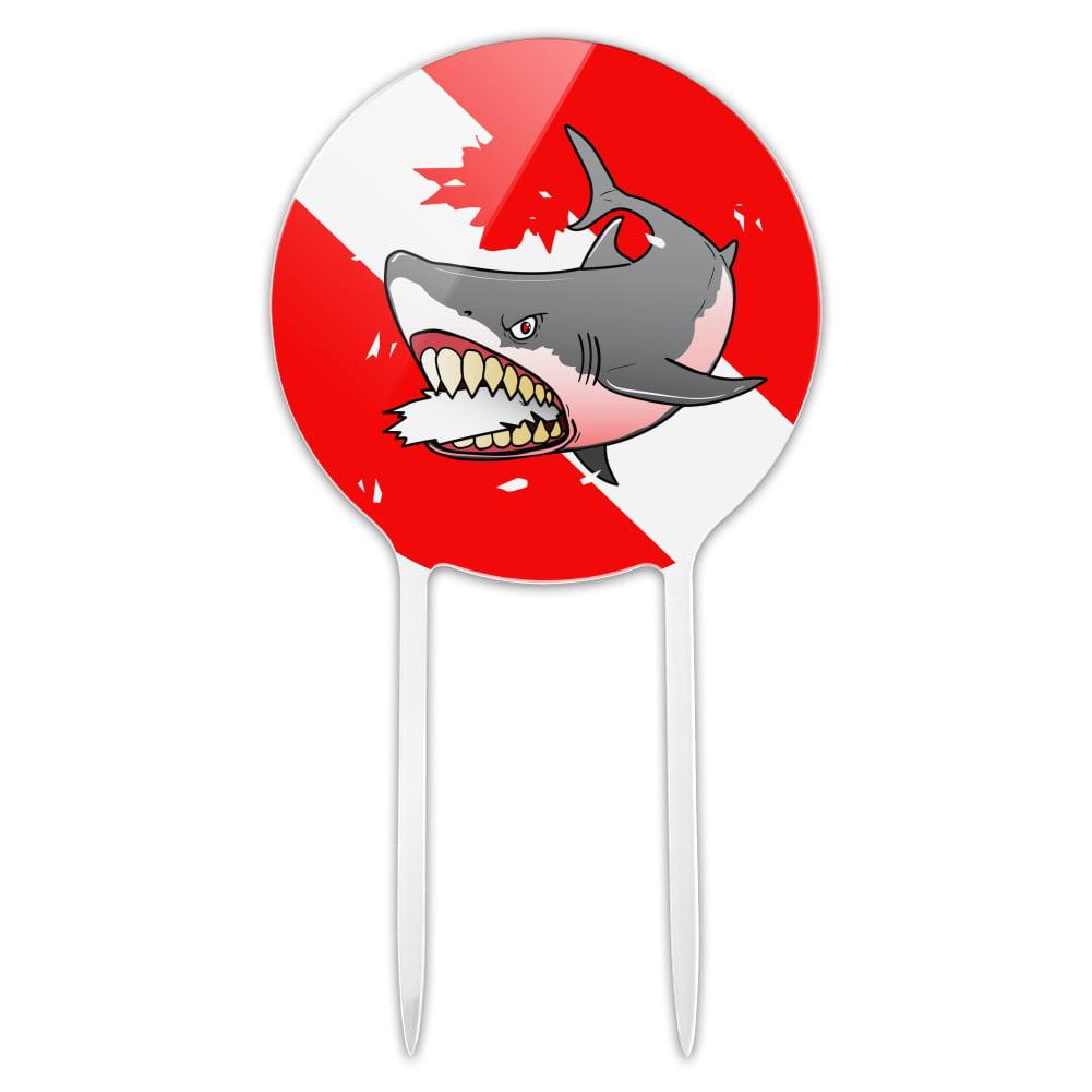 Angry Shark Scuba Diving Flag Diver  Garden Yard Flag