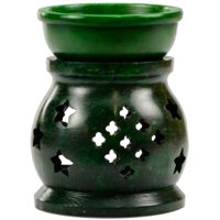 Oil Diffuser in Green Soapstone Holds Standard Tea light As Heat Source Ready For Scented Oils To Create Relaxing Atmosphere In Your Home Meditation Aromatherapy