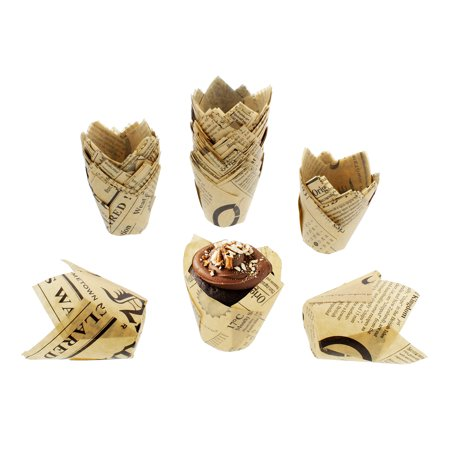 SpecialT | Tulip Cupcake Liners – 100 Ct Tulip Style Muffin Cups - Rustic Cupcake Liners