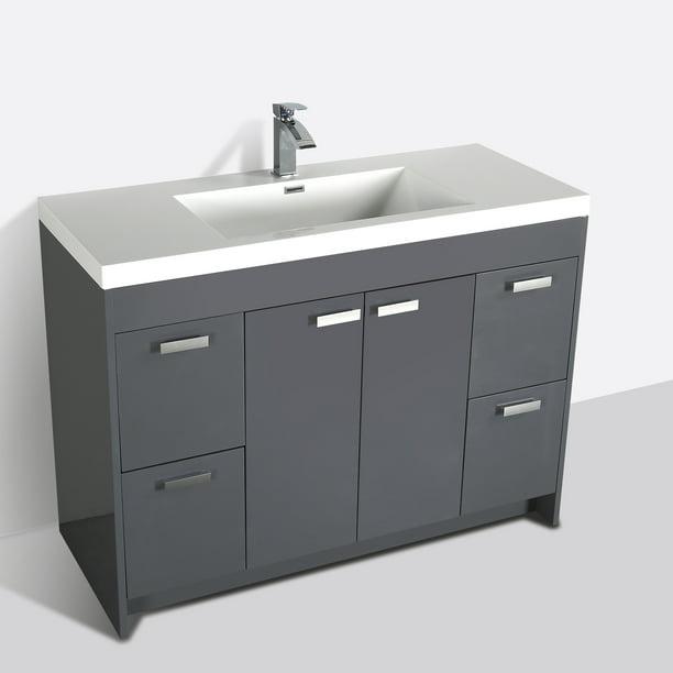 Eviva Lugano 48 Gray Modern Bathroom