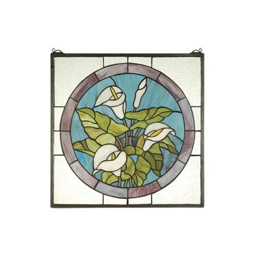 Meyda Tiffany Calla Lily Stained Glass Window