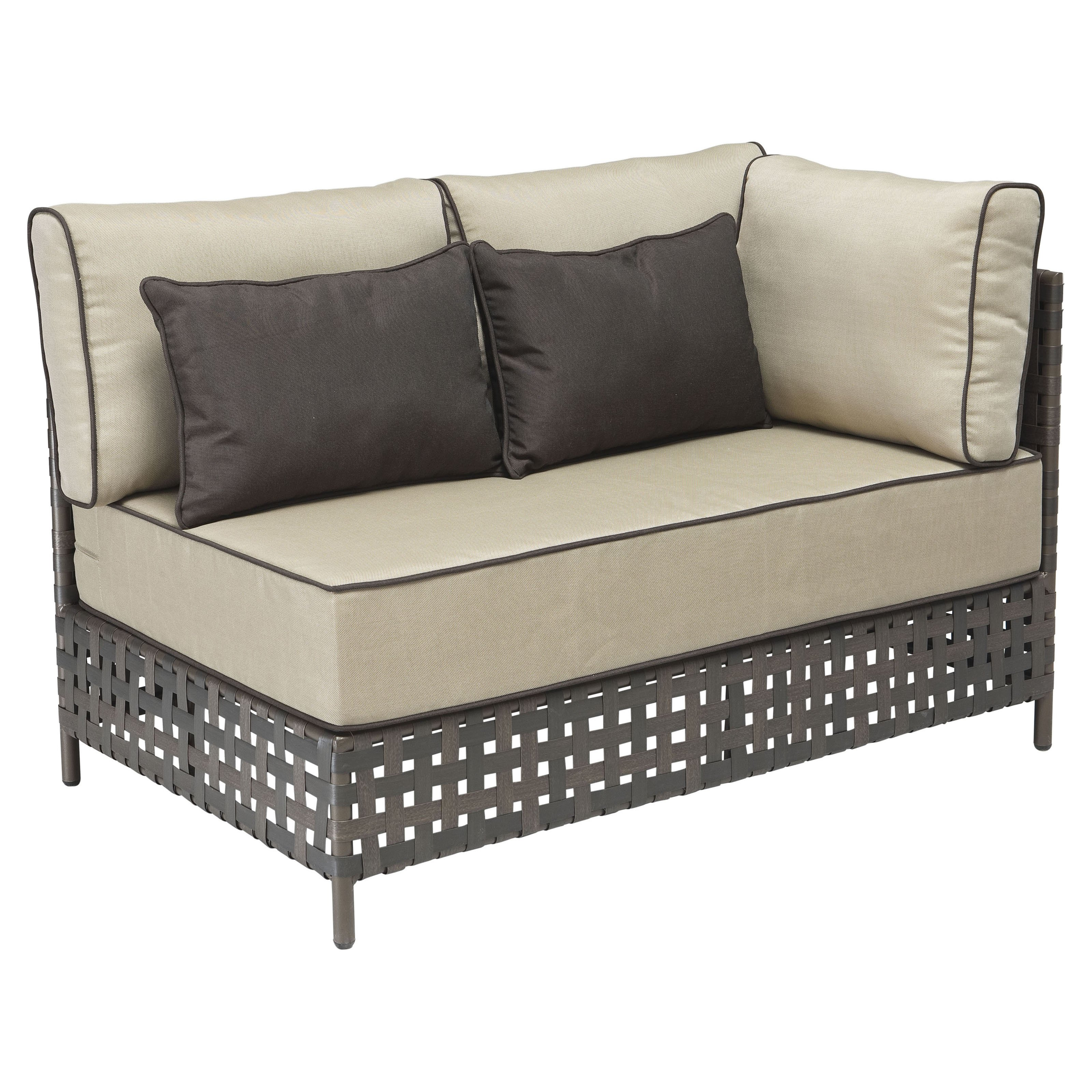 Zuo Vive Pinery Long All-Weather Wicker Right Corner Chaise