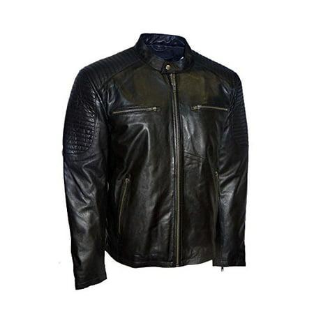 Whet Blu Men's Moto Leather Jacket (Moto Jacket Men Leather)