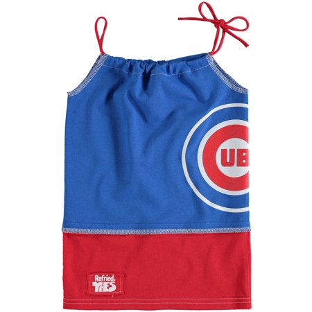 - Chicago Cubs Refried Tees Girls Preschool Tee-Tank Dress - Royal
