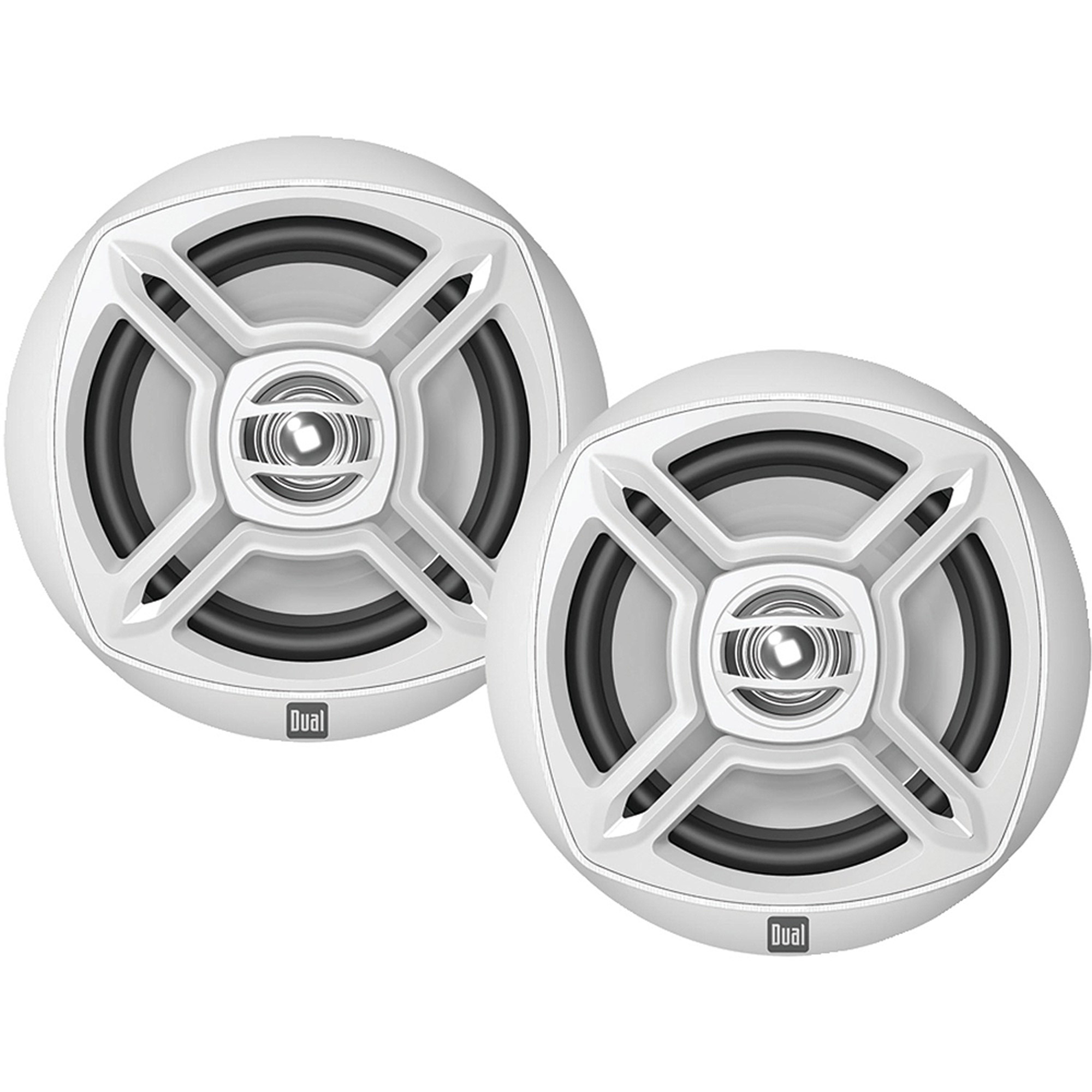 "Dual DMP672 Marine DM Series 6.5"" Dual-Cone Speakers, White"