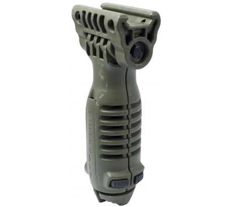 FAB Defense Vertical Vertical Foregrip & Incorporated Bipod - OD Green - PodOD