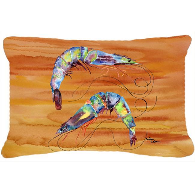 Carolines Treasures 8145PW1216 Shrimp Indoor & Outdoor Fabric Decorative Pillow - image 1 de 1