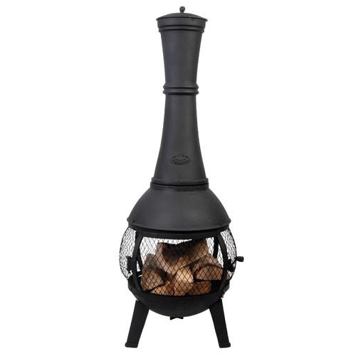 EsschertDesign Stove Cast iron Wood Burning Chiminea by EsschertDesign