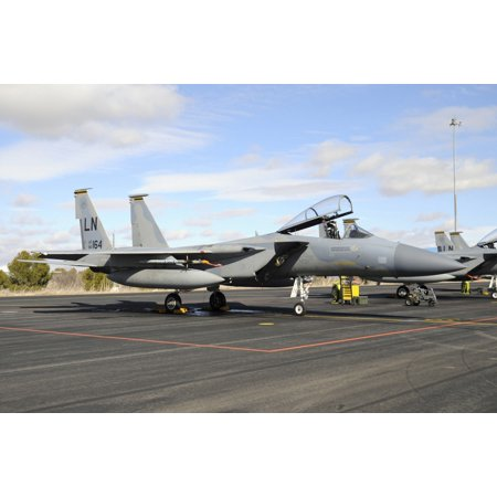 US Air Forces Europe F-15C Eagle at Albacete Air Base Spain Canvas Art - Riccardo NiccoliStocktrek Images (34 x