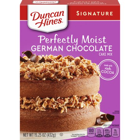 Duncan Hines Signature Perfectly Moist German Chocolate Cake Mix, 15.25 OZ